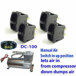 Manual Paddle Valve Switch Control Air Lift 25 1 4 Airline dc100 Compressor