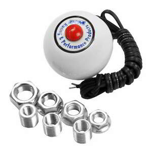 B M Shifter Knob White With 12v Red Button Switch