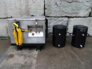 Simplex 300 Ton Hydraulic Cylinders And Pump Set Of 2 Cylinders