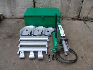 Greenlee 882 1 1 4 To 2 Inch Hydraulic Flip Top Bender With Pump Great Shape