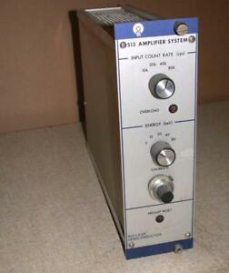 Nuclear Semiconductor 513 Amplifier System Plug in Module Ortec Canberra Frees
