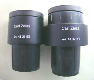 Zeiss Pl 10x 18 Microscope Eyepieces Pair With Graticule