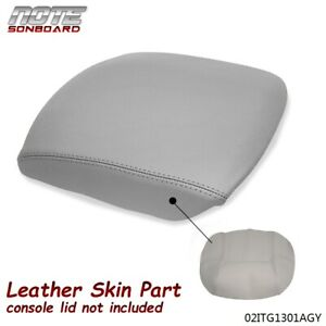For 2009 2015 Honda Pilot Gray Leather Center Console Lid Armrest Cover Set