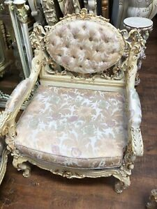 French Provincial Rococo Baroque Italian Sofa Two Chairs Italy