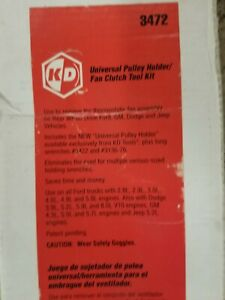 Kd Tools 3472 Pulley Holder Fan Clutch Tool Kit Wrench