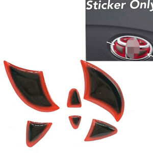 Gloss Gel Coat Vinyl Steering Wheel Emblem Filler Insert Sticker Red For Toyota