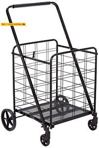 Uniware 360 Degree Wheel Folding Super Jumbo Shopping Cart 51 25 X 8 X 27 Inch