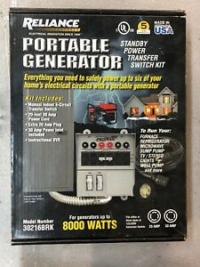 Reliance Portable Generator Standby Power Transfer Switch Kit 30216brk 6 Circuit