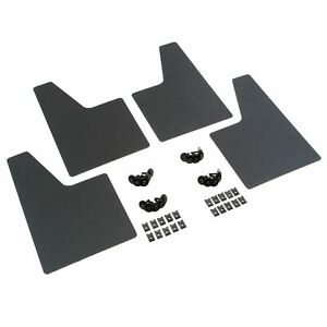 Splash Guards 4pc Fits Mid Size Trucks Vans Suvs 8 X 13 Mud Flaps Black L R
