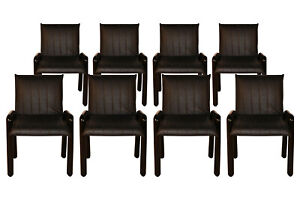 Eight Guido Faleschini Italian Dilos Dining Chairs By I4 Mariani For Pace