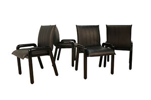 Four Guido Faleschini Italian Dilos Dining Chairs By I4 Mariani For Pace