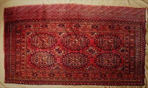 Antique Salor Gul Tekke Turkoman Chuval Rug C 1890