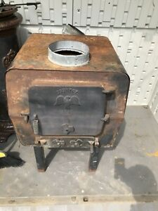 Cast Iron Wood Burning Stove Garage Furnace Heater Cook Stove