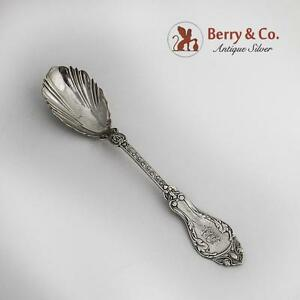 Very Unusual Sugar Spoon Unknown Albert Coles Pattern Coin Silver 1870