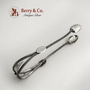 Antique Sugar Tongs Silver North German 18th Early 19th Century