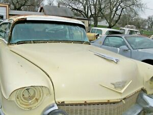 1956 Cadillac Hood With Hinge Ornament And Emblems