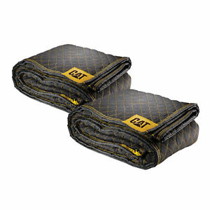 Cat Premium Woven Utility Padded Moving Blankets 80 X 72 2 Pack 240031
