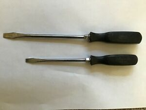 Snap On Lot Of 2 Vintage Flat Head Screwdrivers Ssd6 Ssd8 Free Shipping Usa