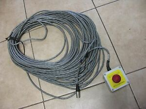 Emergency Stop Switch 16 20 Cable 100ft