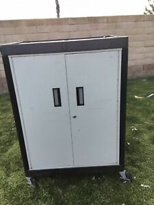 Luxor Steel Roll Up Cabinet With Electrical Cable