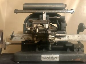 Addressograph Multigraph Graphotype Model 6183 Metal Tag Plate Embossing Machine