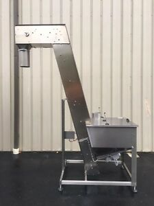 Eckel Stainless Steel Cap Hopper elevator With 110 Inch Discharge New 2014