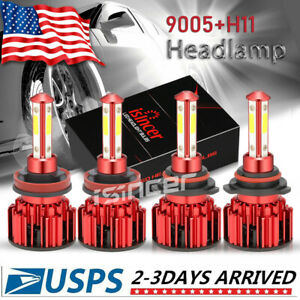 9005 H11 6000k 672000lm Combo 4 Side Cree Led Headlight Kits High Low Lamp Bulb
