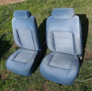 1993 Ford Mustang Blue Cloth Bucket Seats Fox Lx Local Pickup Only