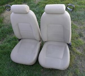 1994 2004 Mustang Convertible Seat Set Tan Cloth W Power Local Pickup Only