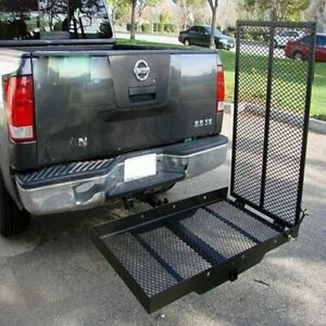 660lbs Strong Wheelchair Hitch Carrier Mobility Electric Scooter Loading Ramp