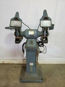 Baldor Electric 1021wd 10 Industrial Grinder W pedestal 1 1 2 Hp 230 460 3ph