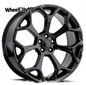 22 Inch Gloss Black Chrysler 300 C Oe Replica Wheels Fits Dodge Charger 5x115