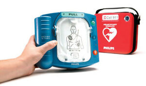 Philips Onsite Defibrillator Aed W New Adult Pads Battery Biomed Certified