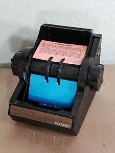 Rolodex 2254d Black Metal Rotary Flip Card File Index Cards no Key