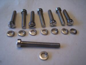 2 Rochester 2g 2gc Carb Stainless Steel Screws Tripower Rat Rod Street Vintage