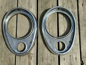 1953 Buick Skylark Roadmaster Super Headlight Bezels Trim Rings Kustom Mercury
