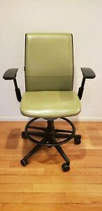 Steelcase Think Leather Office Chair With Foot Rest