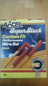 Accel 4049 Super Stock 8mm Spark Plug Wires Custom Fit