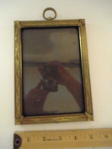 Vintage Ornate Decorative 5 X7 Gold Tone Metal Picture Frame