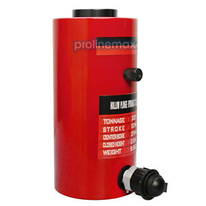 Hollow Plunger 30 Ton Hydraulic Cylinder Jack Ram 1 96 50mm S