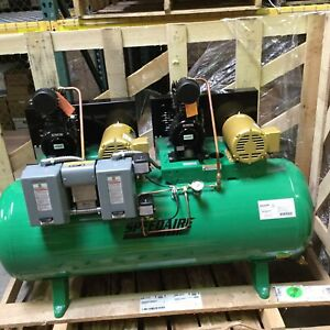 Speedaire 5z700 Electric Air Compressor 3 Phase Horizontal Tank Mounted 1 50hp
