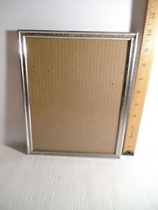 Vintage Ornate Decorative 8 X10 Silver And Gold Tone Metal Picture Frame