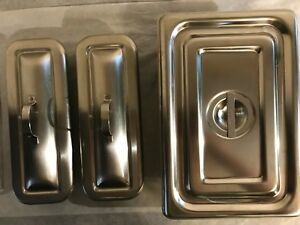 1 Polar Ref 1002 And 2 Volrath Ref82830 Stainless Steel Pans With Lids