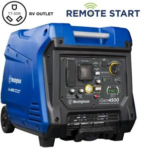 Westinghouse 4 500 3 700 w Quiet Gas Powered Generator With Push Button Start