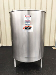 Viatec Perma san 330 Gallon Stainless Steel Jacketed Tank Foodgrade