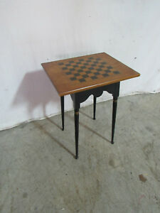 Rare Hitchcock Checkerboard Side Table Nightstand