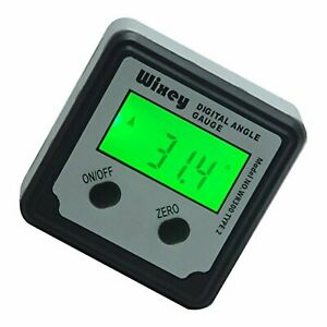 Wixey Digital Angle Gauge Inclinometer Model Wr300 Type 2 Lcd Display Backlight