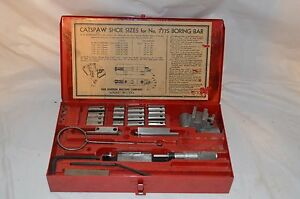 Vintage Van Norman 777s Boring Bar Tool Kit Kwik Way Rottler 777 944s