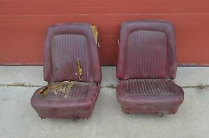 Ford Mustang Fomoco Vintage Bucket Seats Pair 67 68 69 Fairlane Comet C8zb