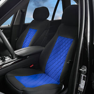 Front Bucket Seat Covers Pair Neosupreme For Auto Car Suv Blue Black